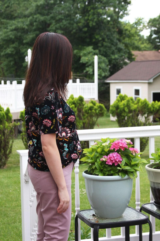 Floral Velvet Tee 3