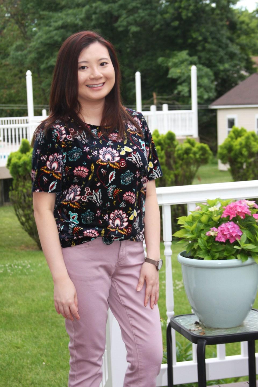 Floral Velvet Tee 5