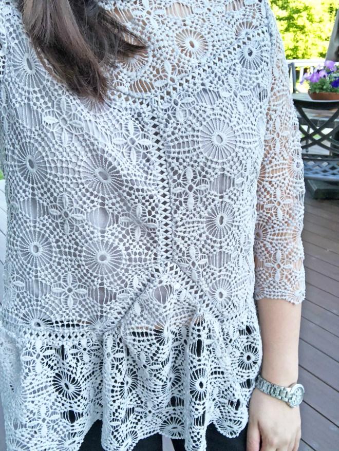 Grey Crochet Top 13