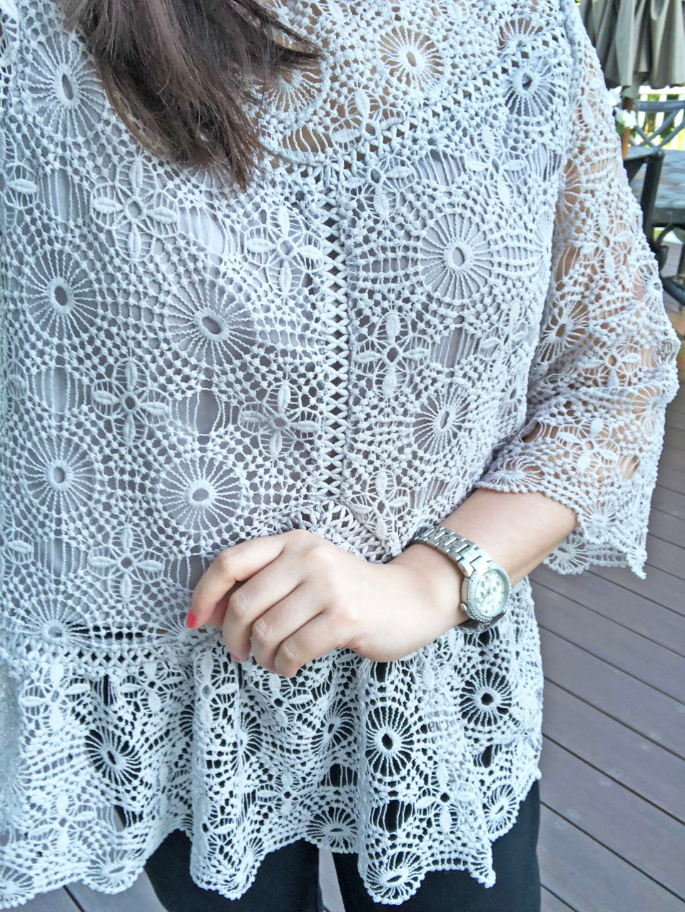 Grey Crochet Top 14
