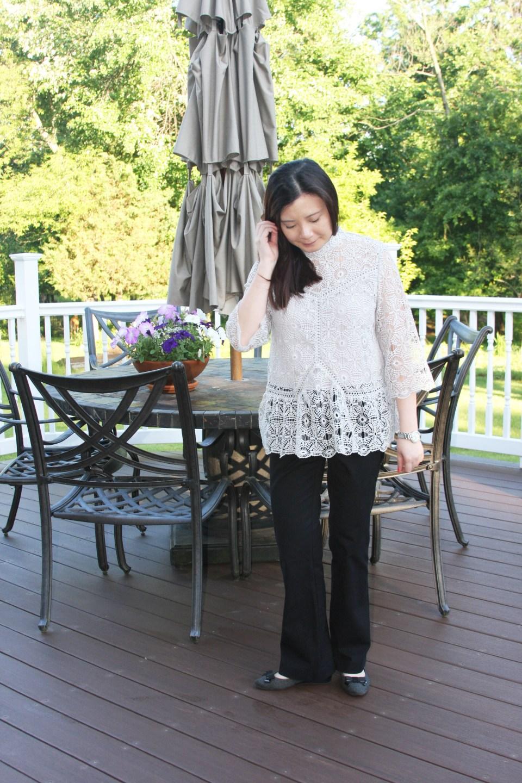 Grey Crochet Top 7