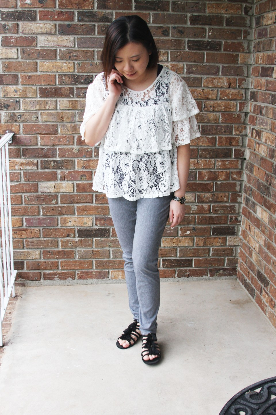 Lace Tiered Ruffles 7
