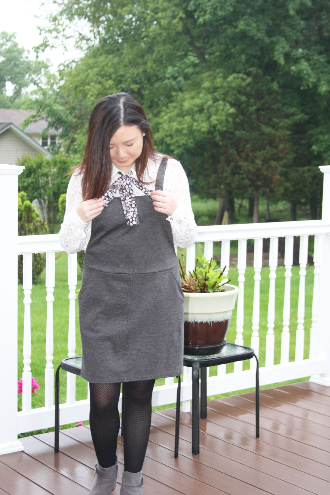 Lace Top + Pinafore 5