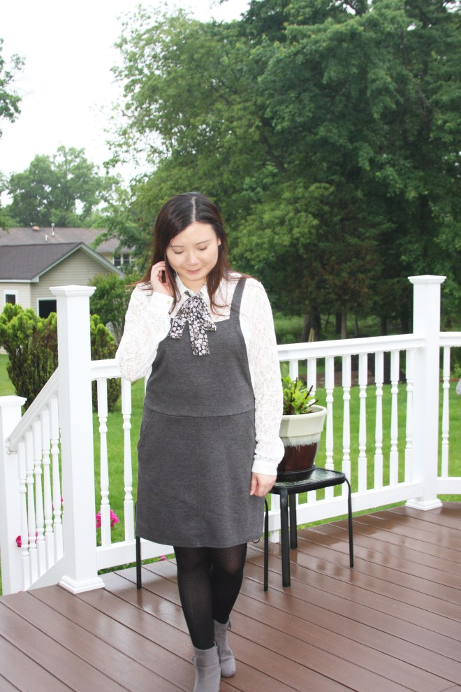 Lace Top + Pinafore