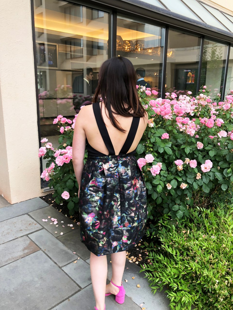 Multicolor Skirt Keyhole Dress 2