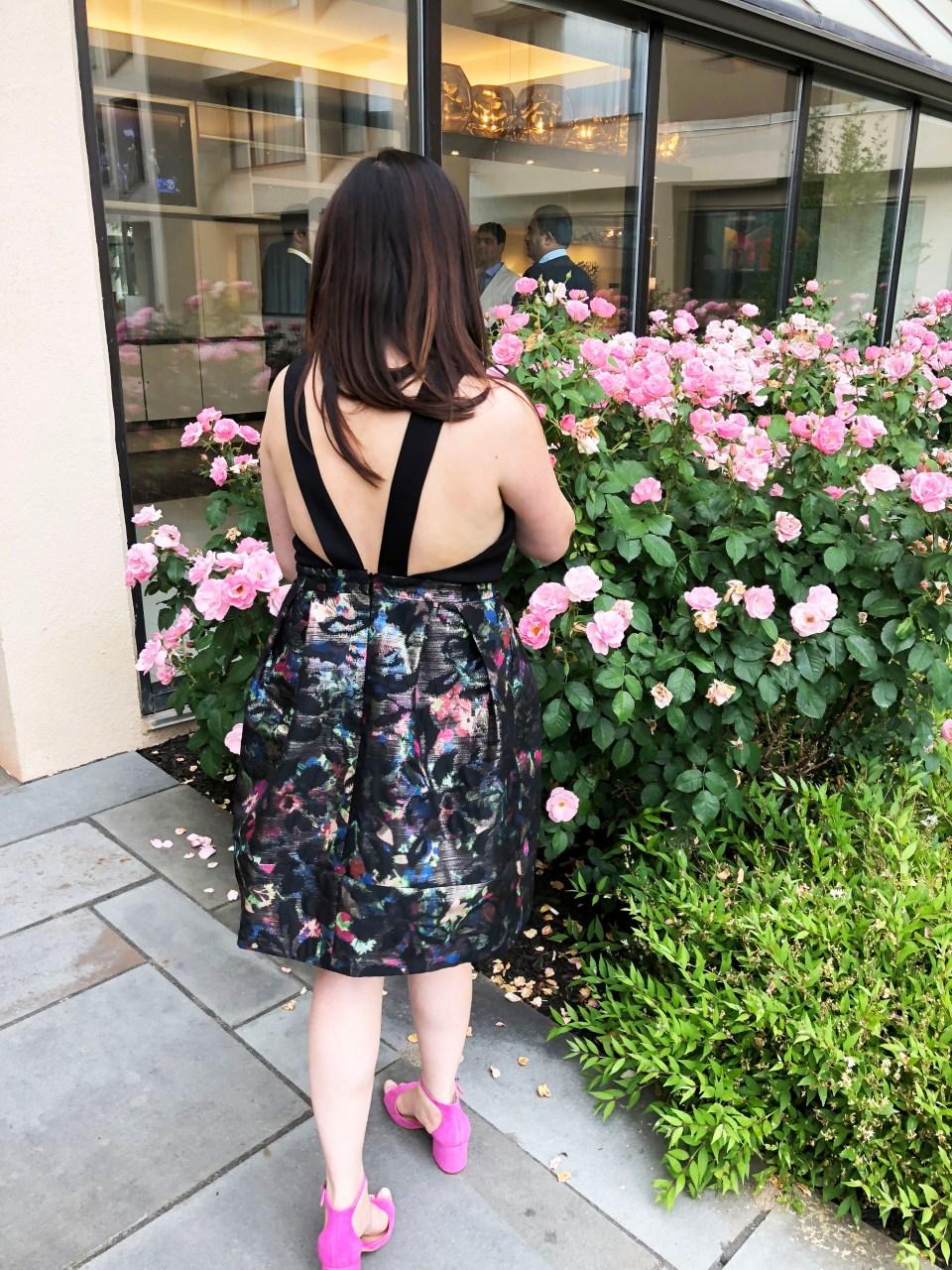 Multicolor Skirt Keyhole Dress 3
