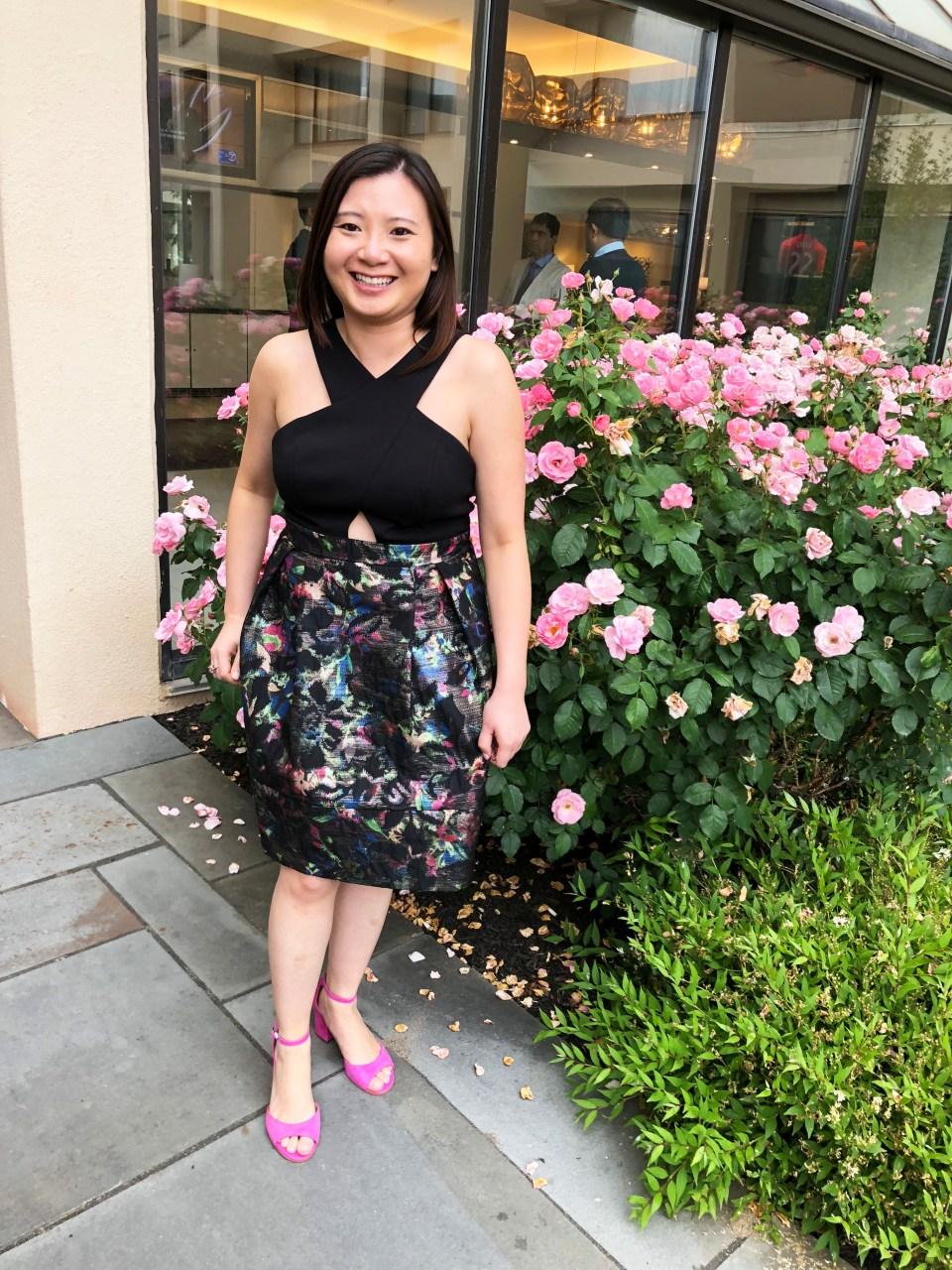 Multicolor Skirt Keyhole Dress 4