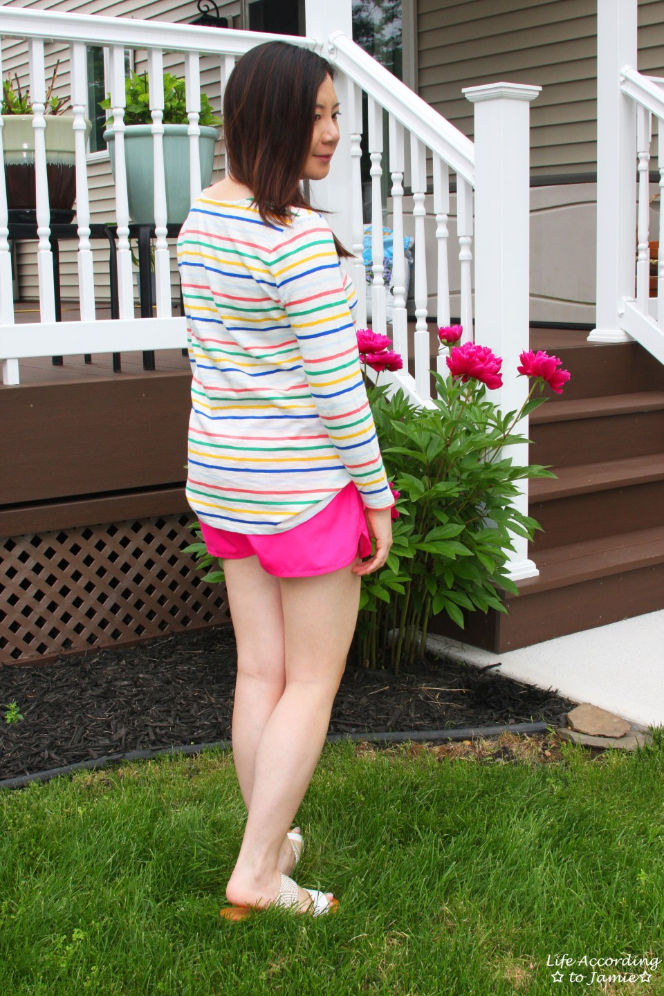 Multicolored Striped Top 8