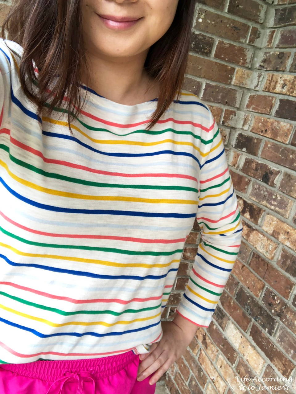 Multicolored Striped Top