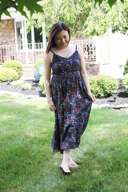 Dark Floral Midi Dress 3