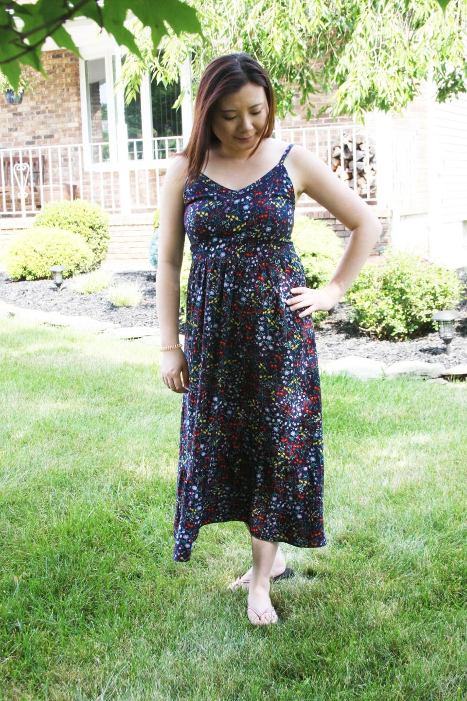 Dark Floral Midi Dress 4