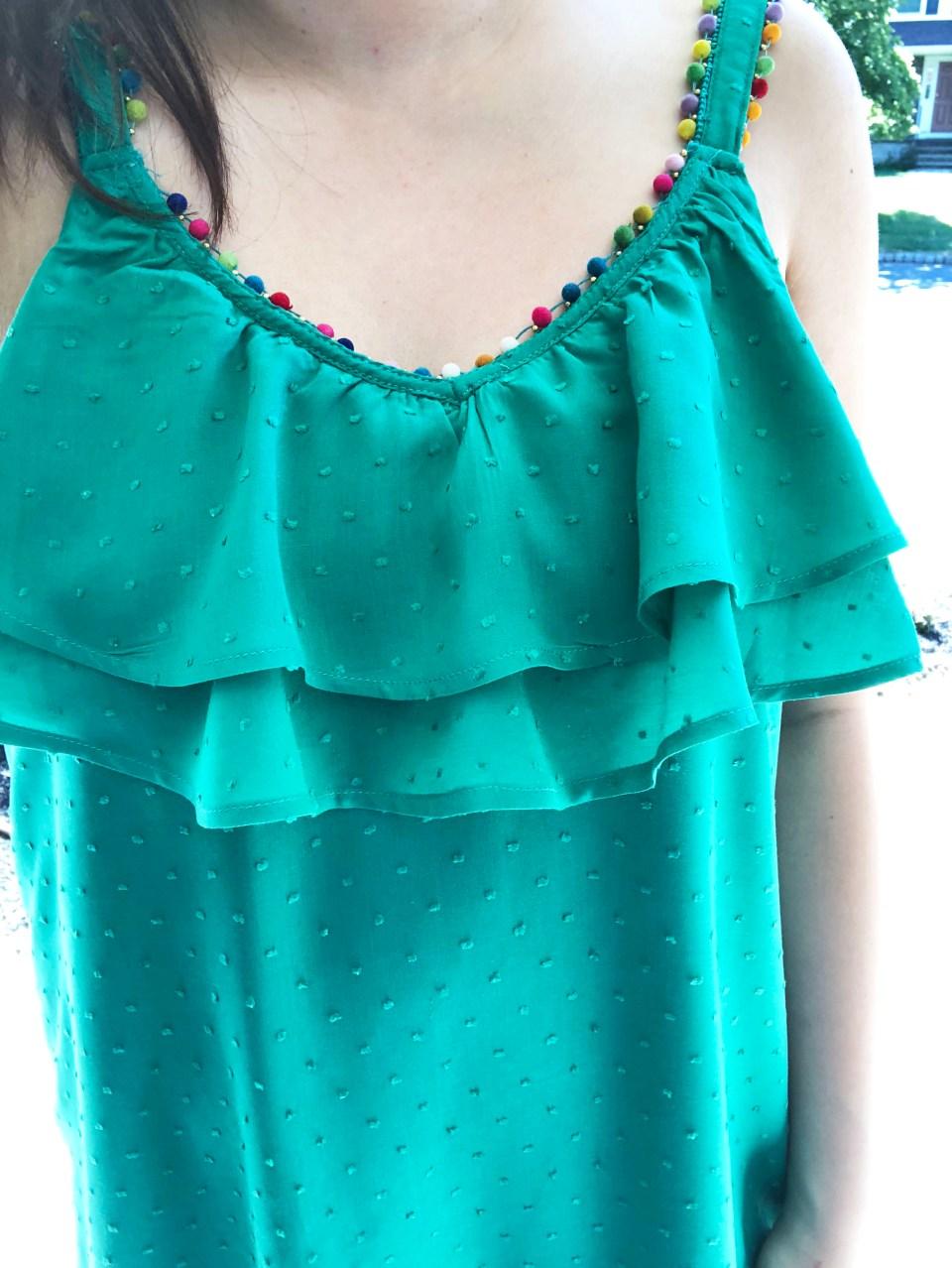 Mini Pompom Trim Dress 11