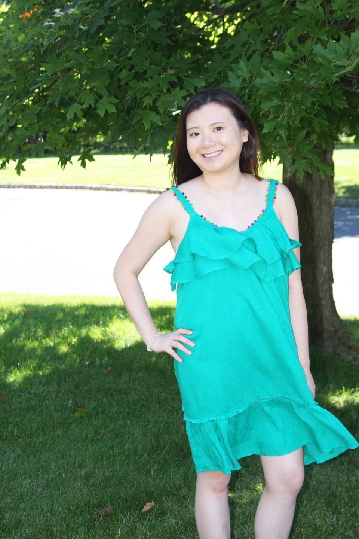 Mini Pompom Trim Dress 5