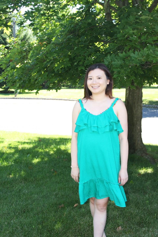 Mini Pompom Trim Dress 6