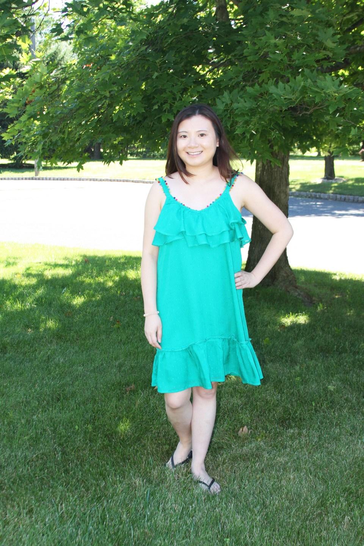 Mini Pompom Trim Dress 7