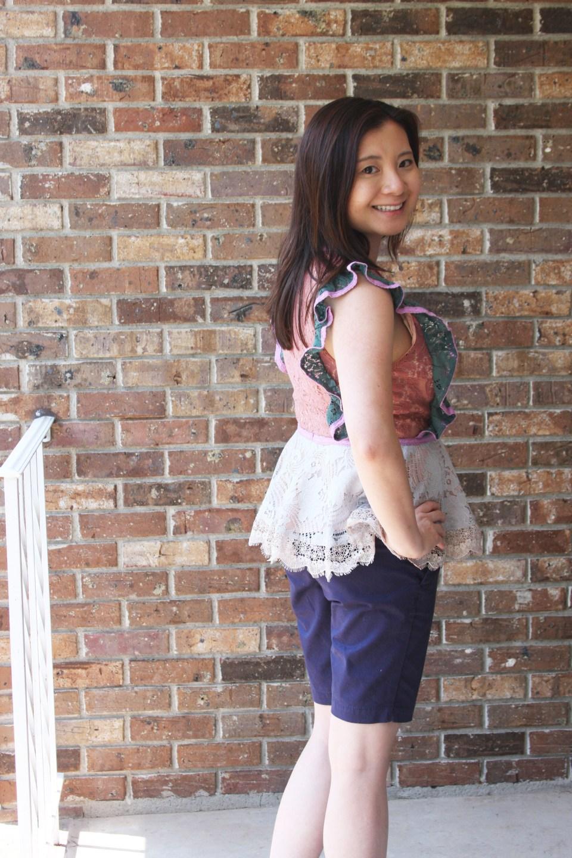Multicolor Lace Peplum 3