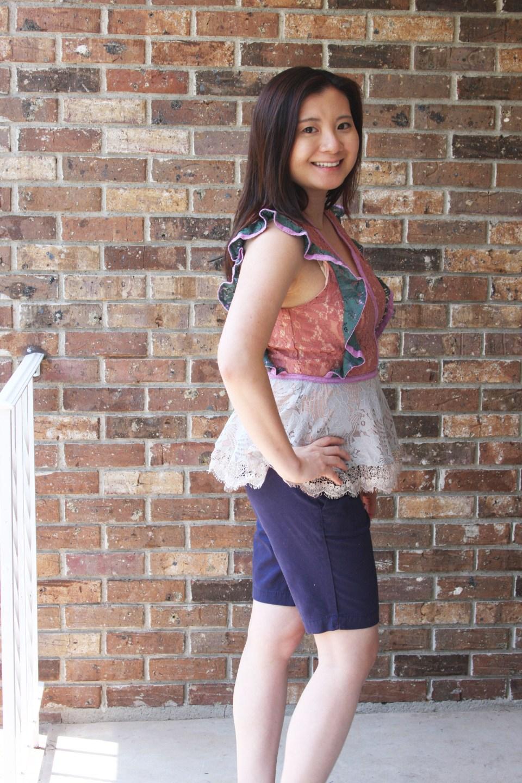 Multicolor Lace Peplum 4