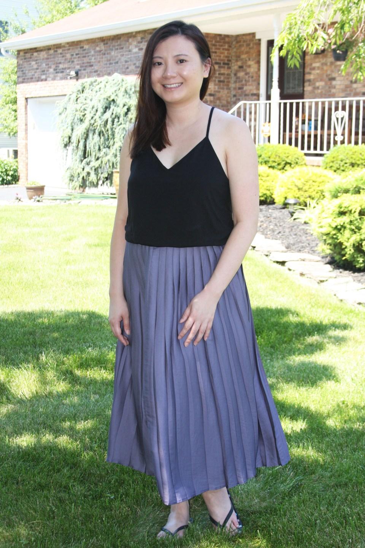 Pleated Duet Dress 10
