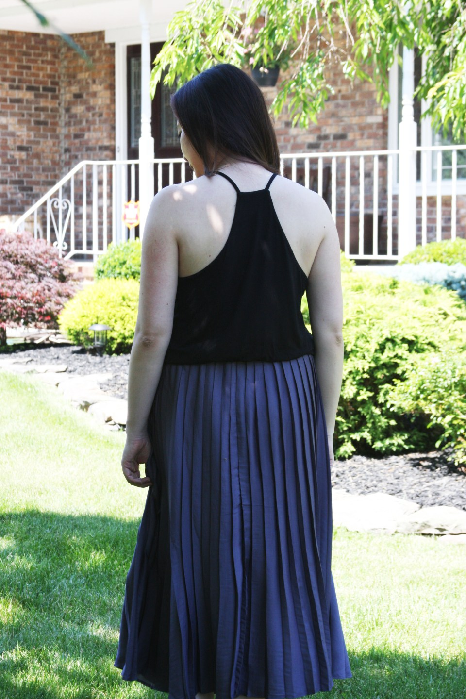 Pleated Duet Dress 4