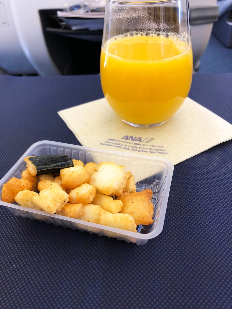 ANA Business Class - snack