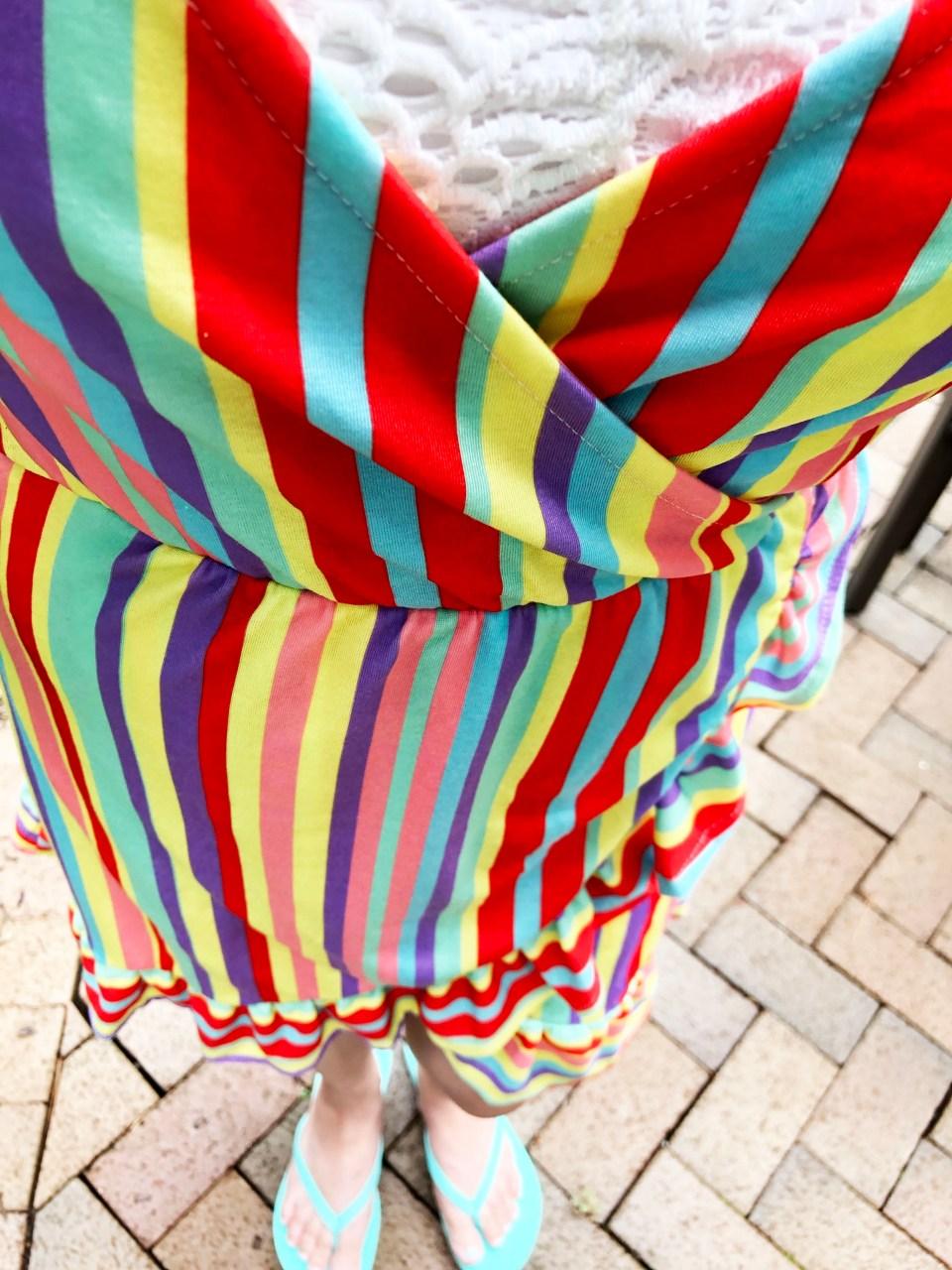 Bright Stripe Wrap Dress 11