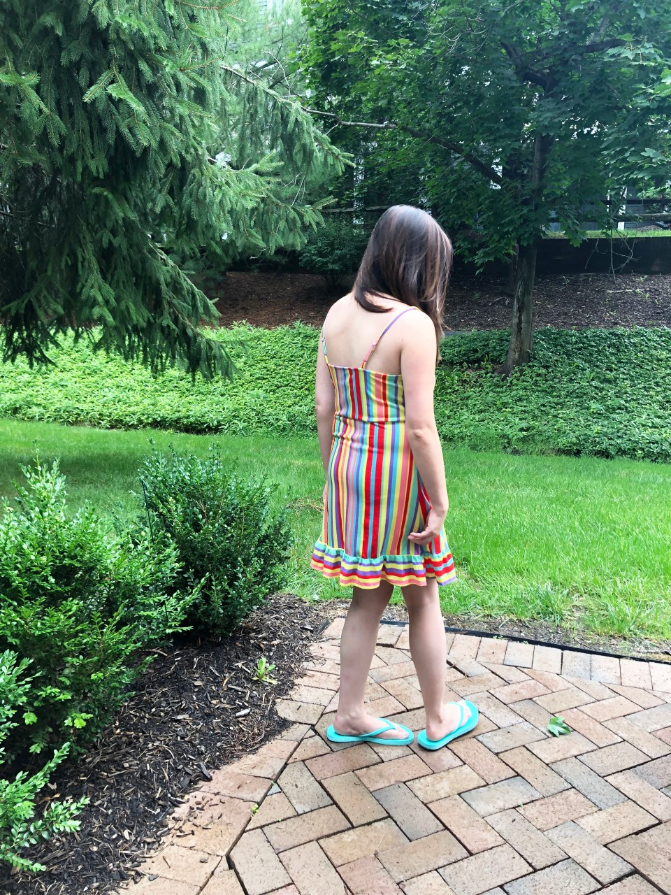 Bright Stripe Wrap Dress 5