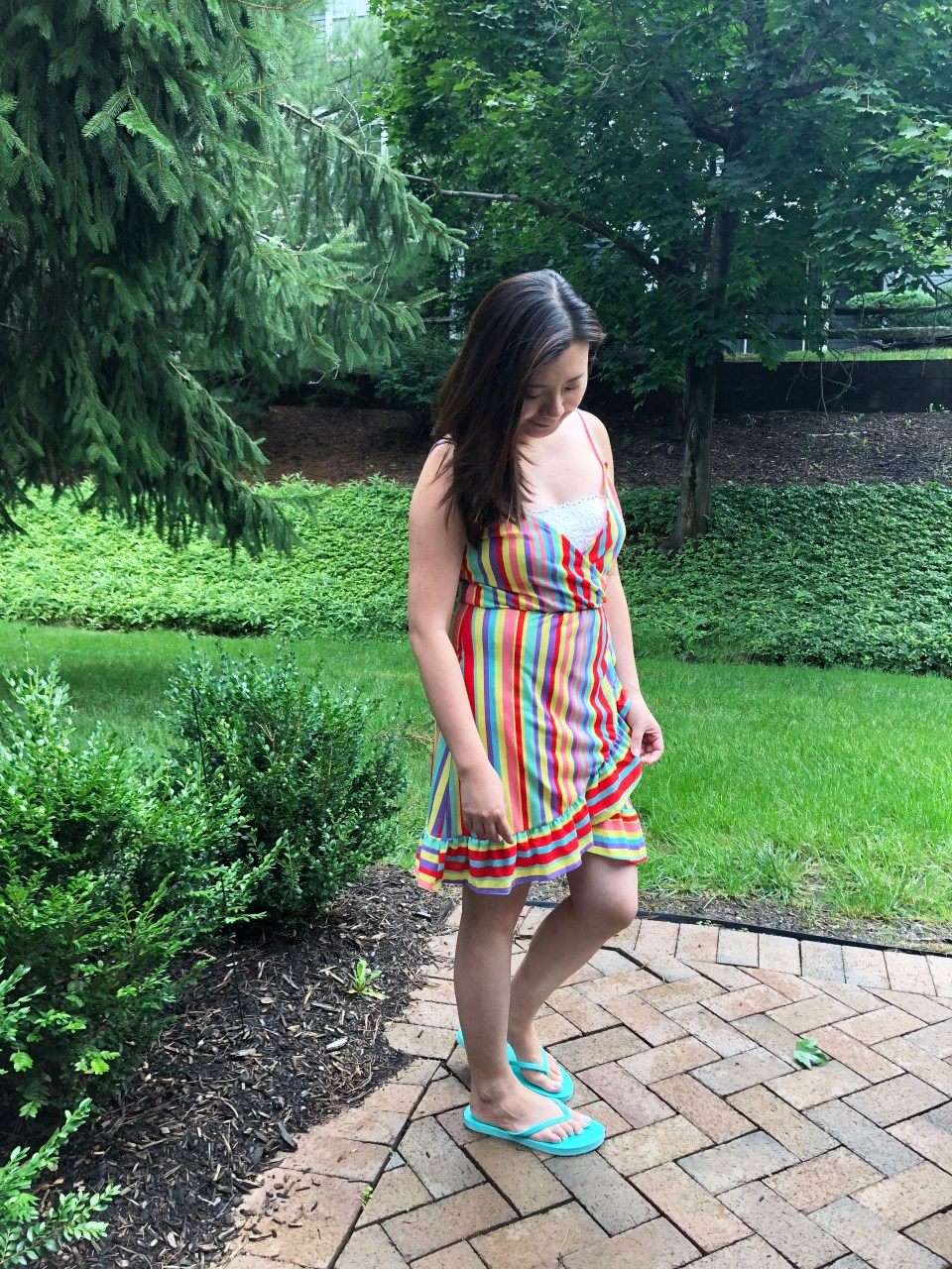 Bright Stripe Wrap Dress 7