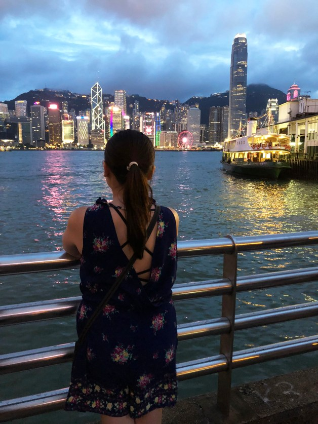 Hong Kong Island skyline - night