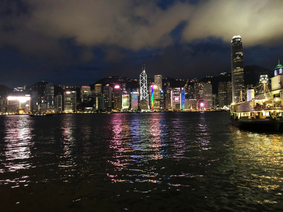 Hong Kong Island skyline - night 2