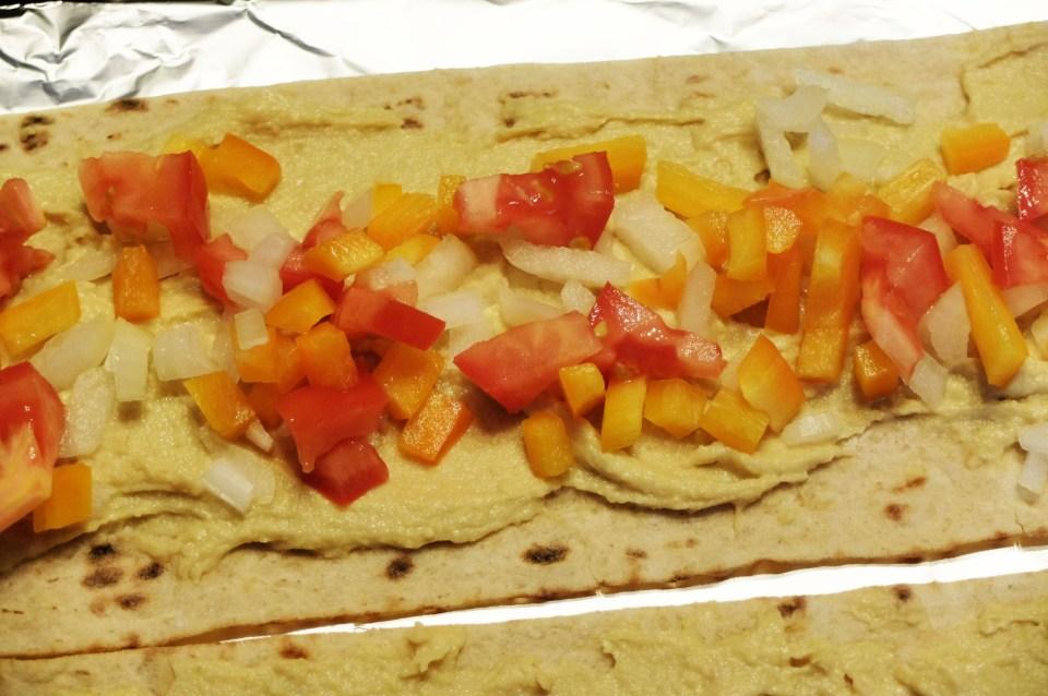 Hummus Flatbread Sandwich 1