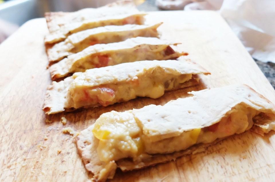 Hummus Flatbread Sandwich 5