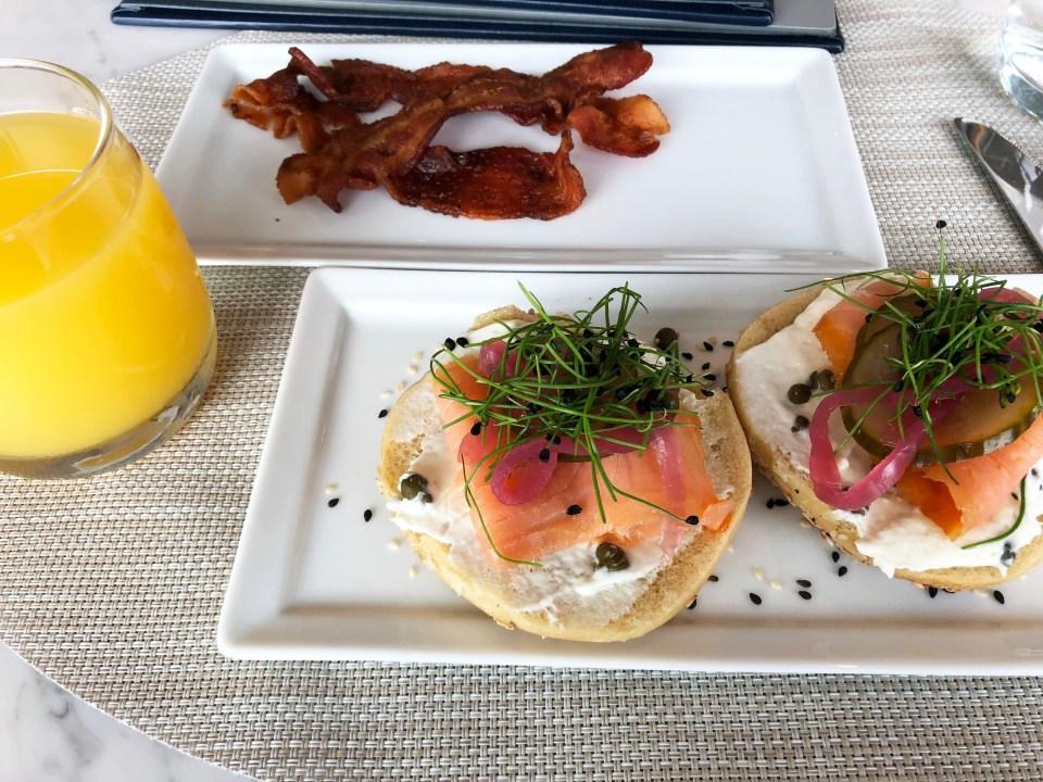 Polaris Lounge - Smoked Salmon on a bagel