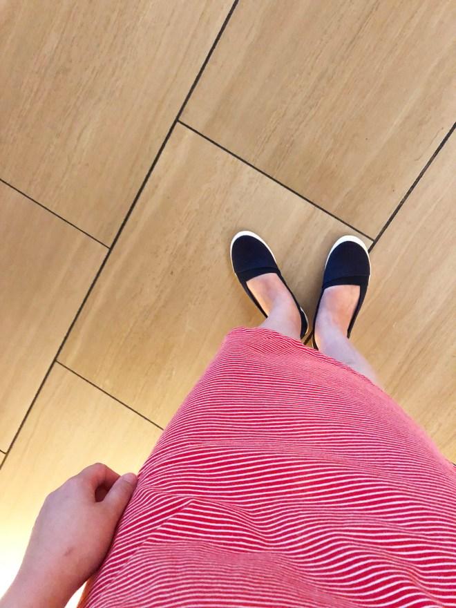 Red & White Striped T-Shirt Dress 8