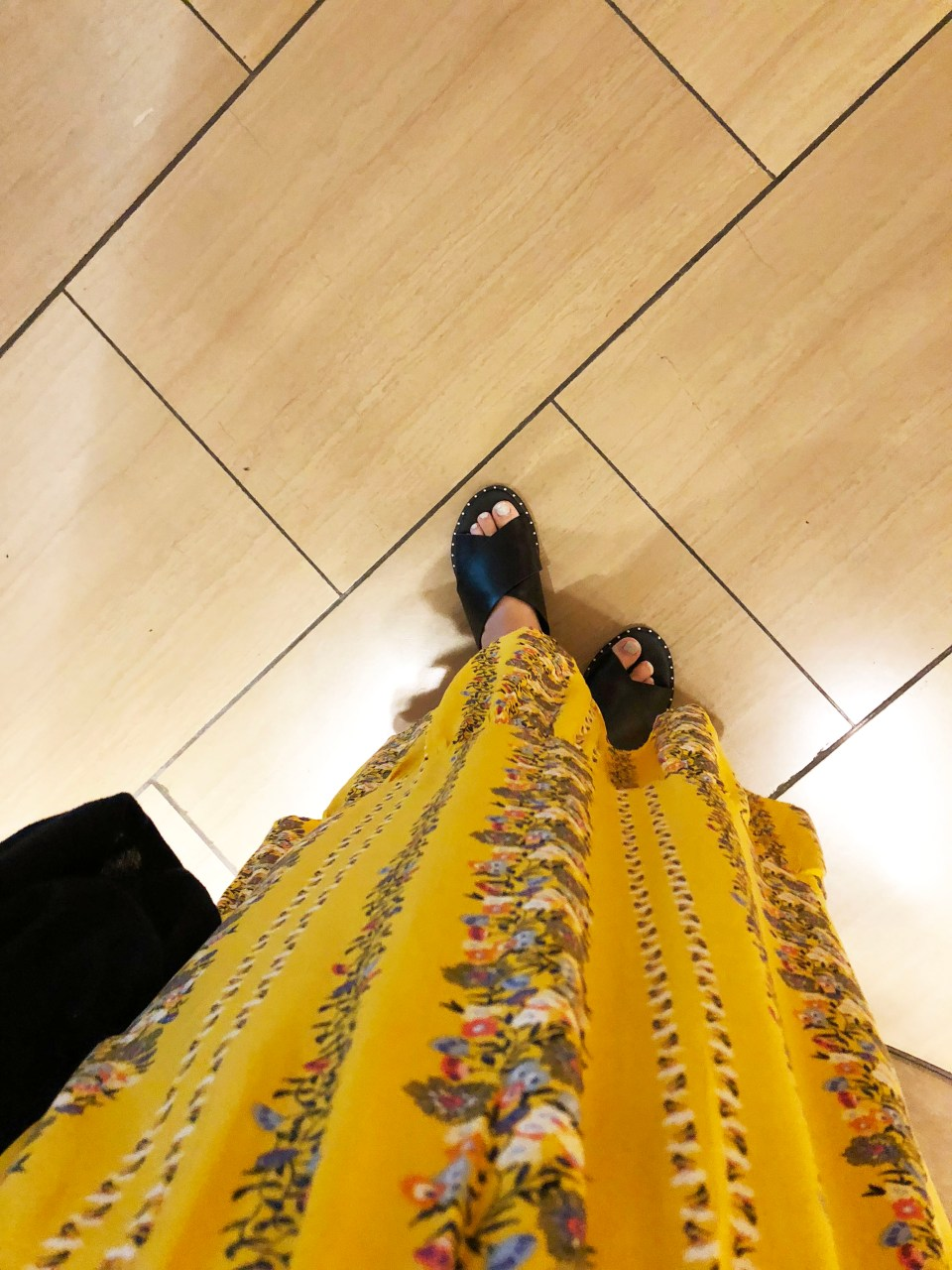 Yellow Floral Midi Dress 1