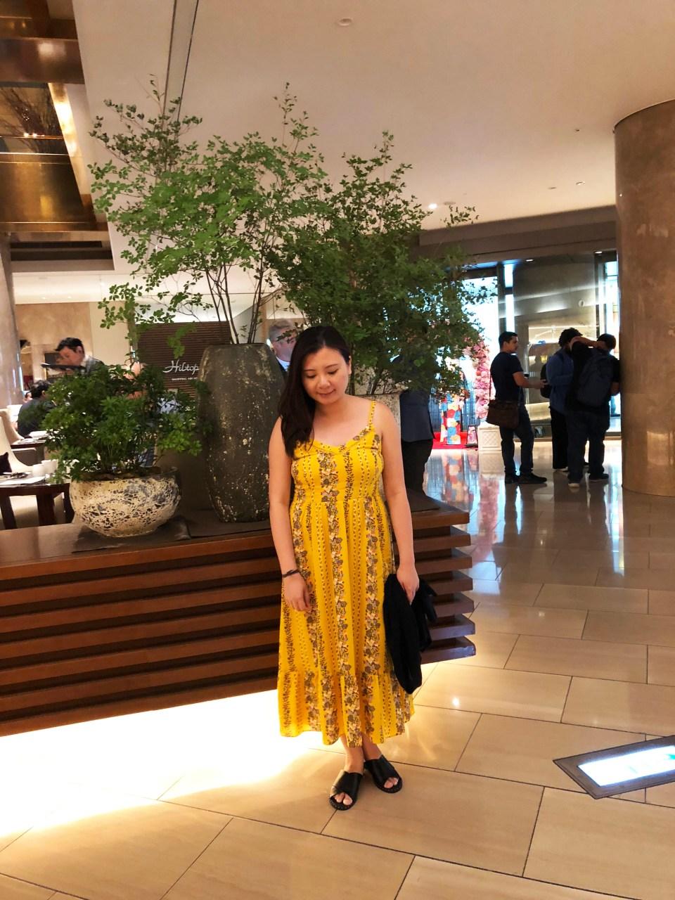 Yellow Floral Midi Dress 10