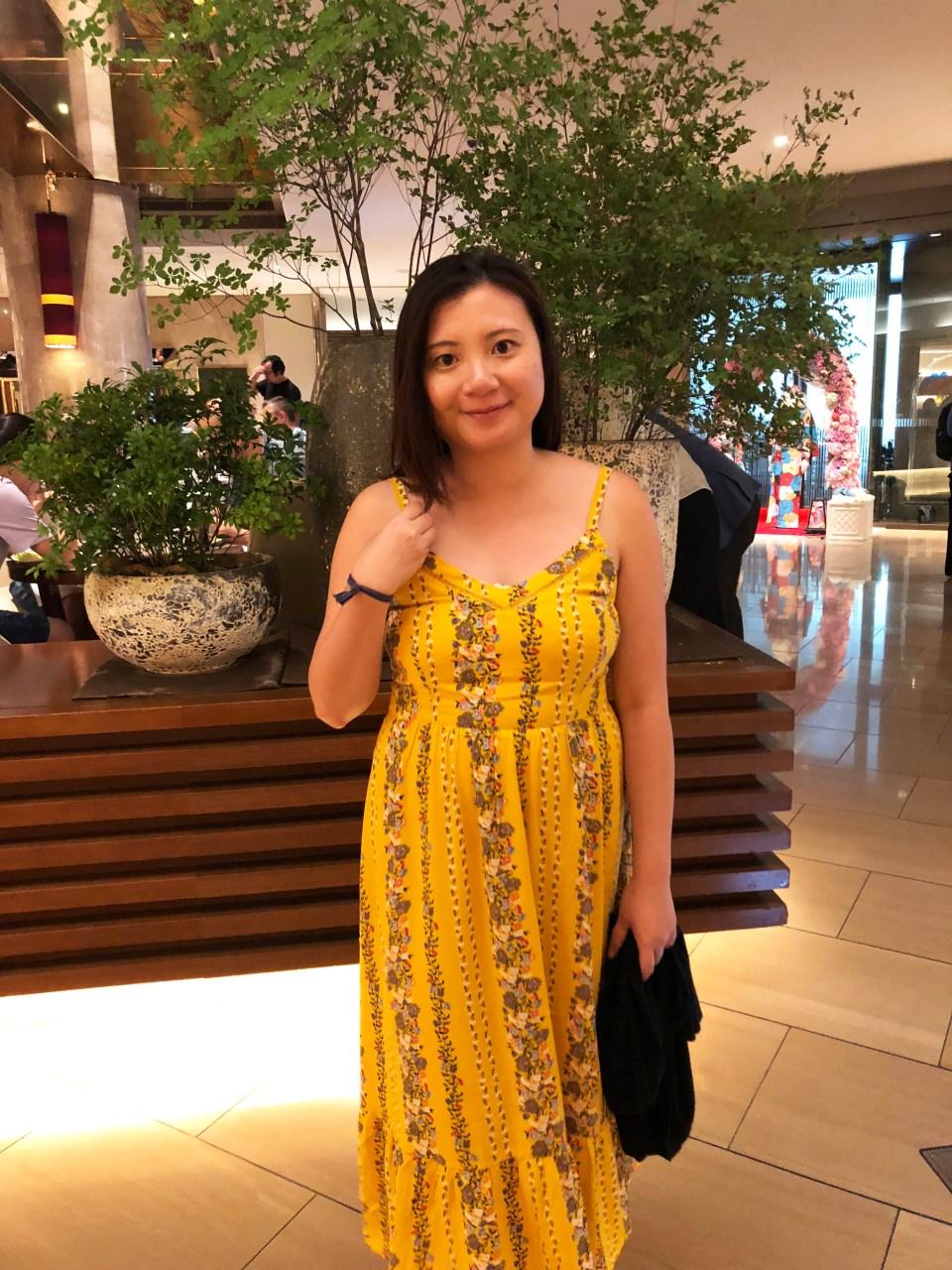Yellow Floral Midi Dress 2