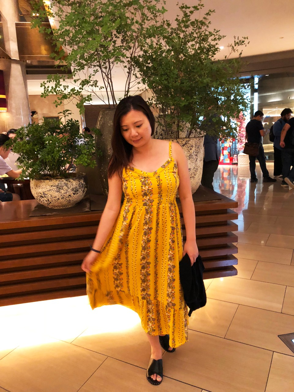 Yellow Floral Midi Dress 7