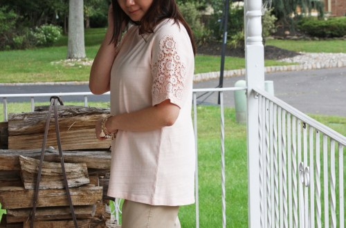 Eyelet Medallion Sleeve Top