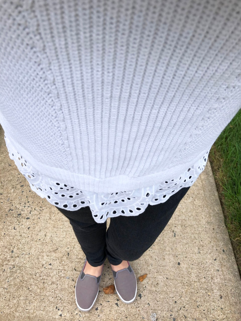 Eyelet Trim Sweater Tank 10