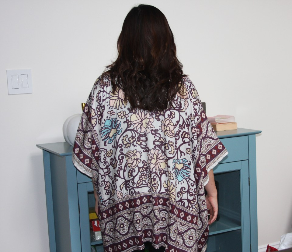 Paisley Tacked Ruana 4