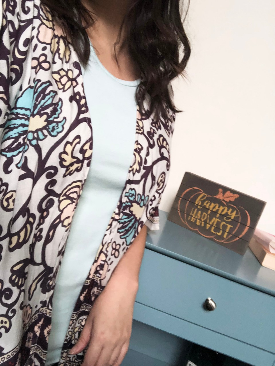 Paisley Tacked Ruana 7