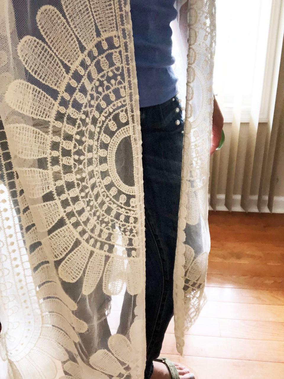 Sheer Detailed Kimono 13