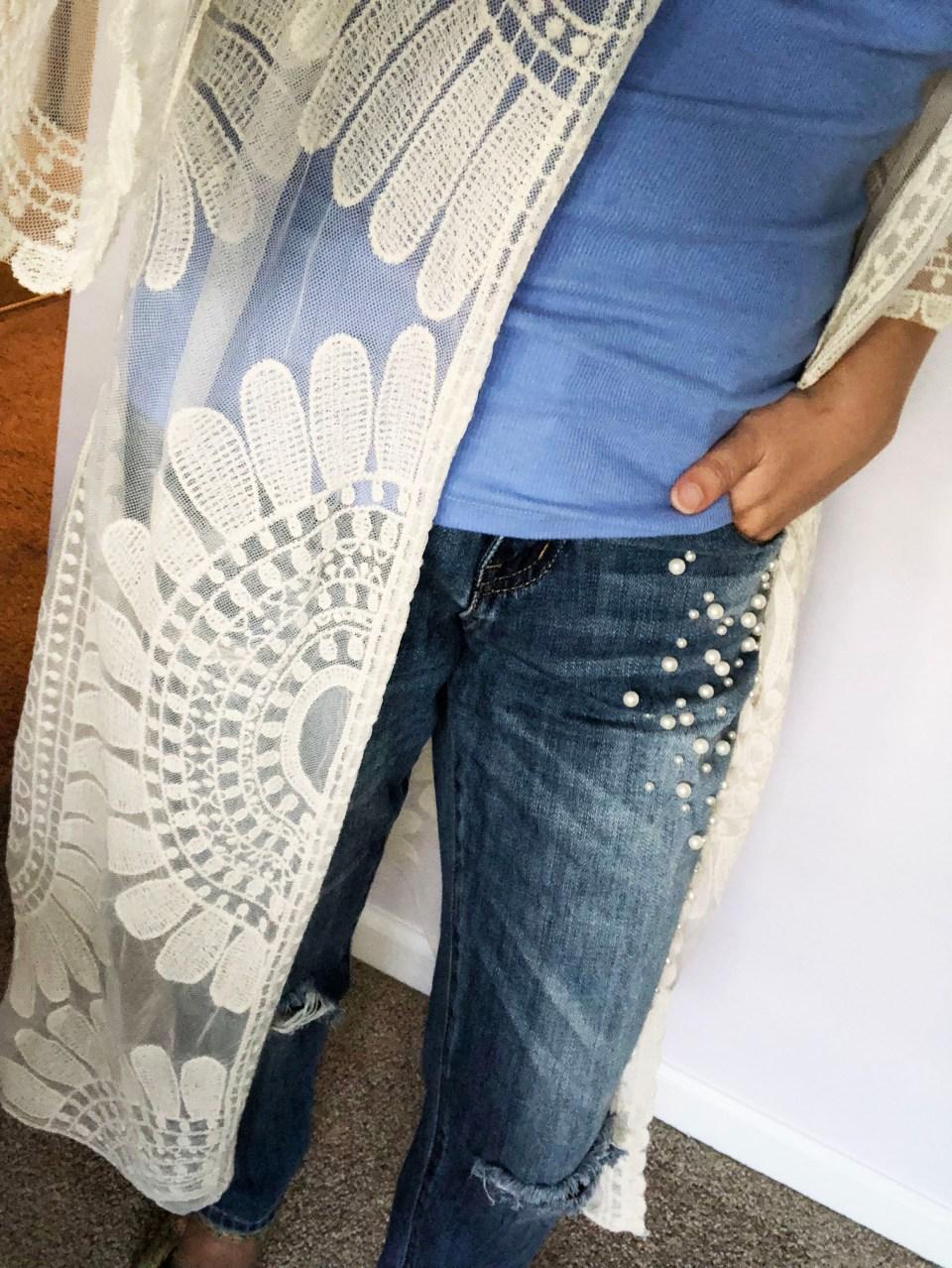 Sheer Detailed Kimono 15