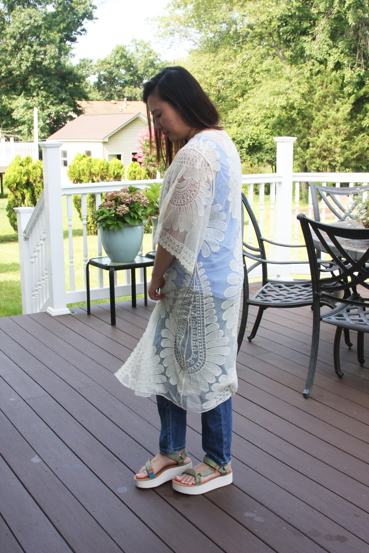 Sheer Detailed Kimono 2