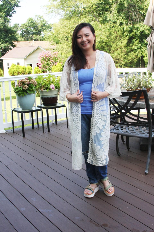 Sheer Detailed Kimono 8