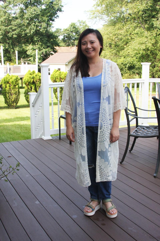 Sheer Detailed Kimono