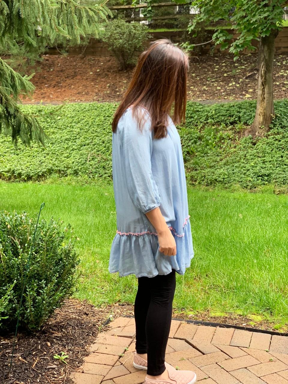 Blue Drop Waist Dress 1