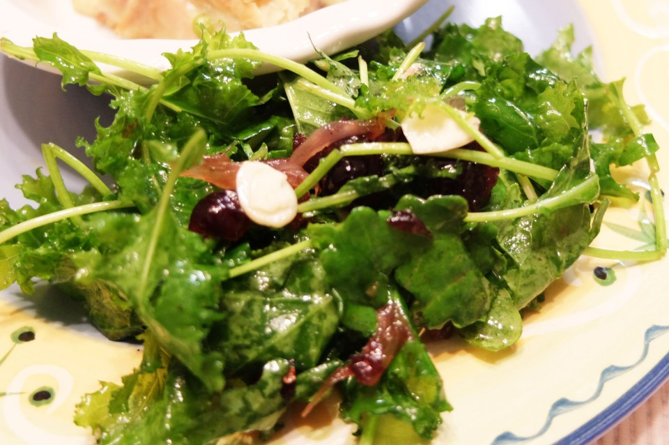 Kale Salad + Cranberry & Almond Vinaigrette 1