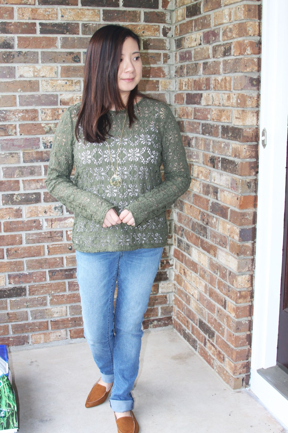 Olive Green Lace Top 5