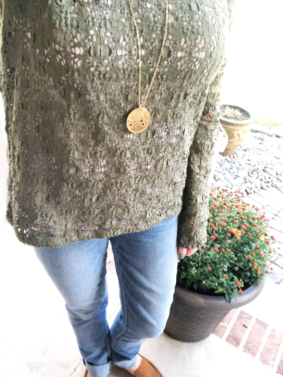 Olive Green Lace Top 9